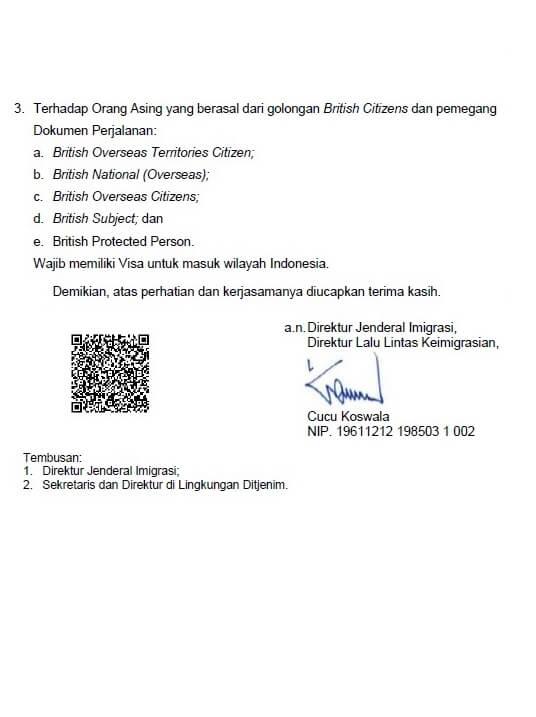 Notice Visa Requirement For British Citizens Bintan Resort Ferries
