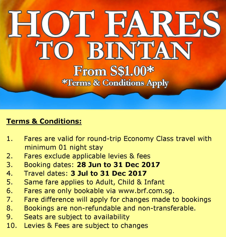 Hot Fares to Bintan 2017