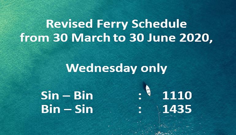 Ferry Scheduled